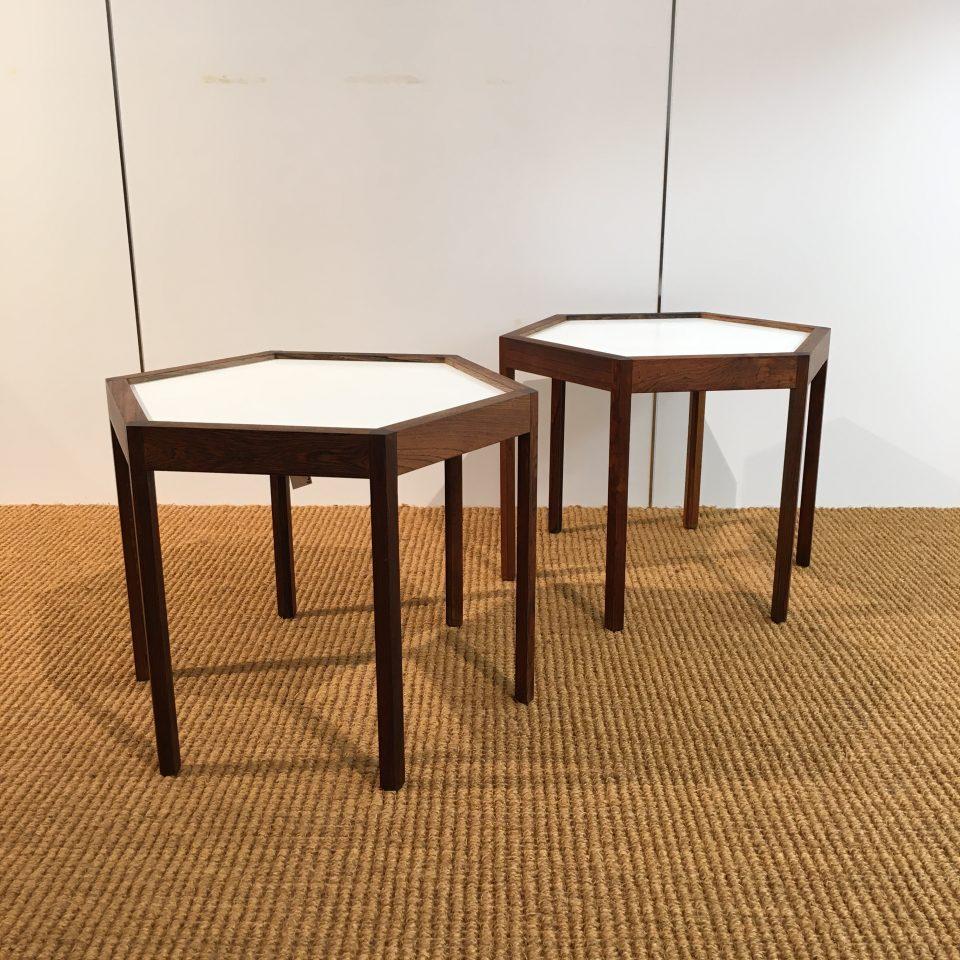 テーブル「ヘキサゴンサイドテーブル(ペア)」