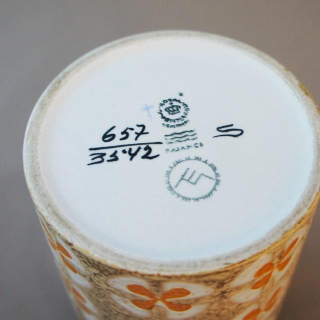 北欧雑貨「BACA 花文様花器」