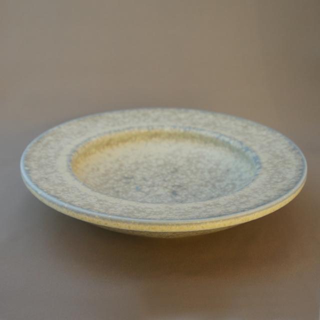 北欧雑貨「緑白釉浅鉢」