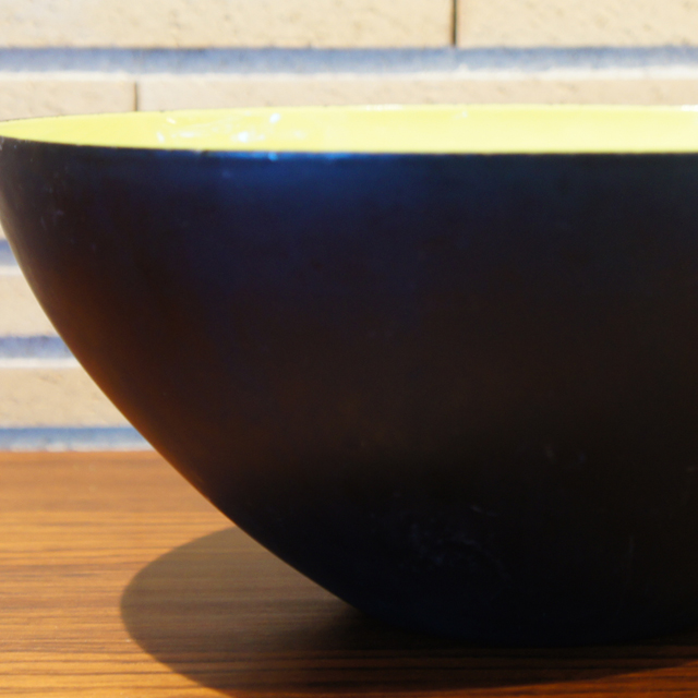 北欧雑貨「Krenit Bowl ( yellow size:L)」