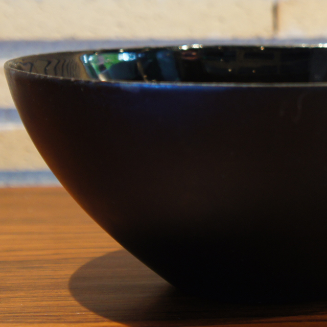 北欧雑貨「Krenit Bowl (black saize:M)」