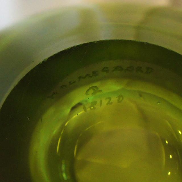 北欧雑貨「Vase: Menuet (middle green)」